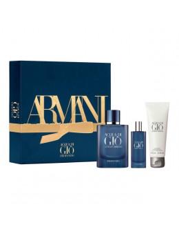 Armani Acqua Di Giò Profondo  EDP 40 ml + EDP 15  ml + Афтършейв балсам 75 ml за мъже