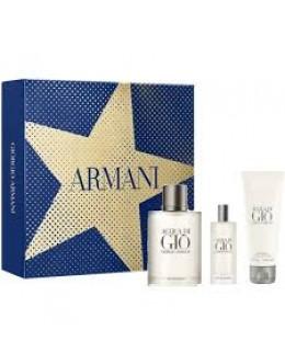 Armani Acqua di Gio ЕDT 100 ml + EDT 15 ml + SG  75 ml за мъже