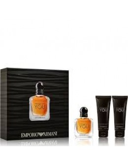 Armani Stronger With You ЕDT 50 ml + SG 75 ml + SG 75  ml за мъже