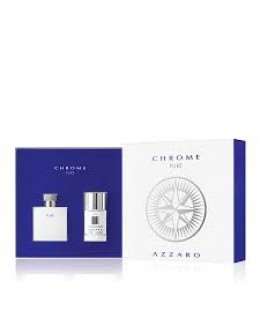Azzaro Chrome Pure EDT 50 ml  +  Deostick 75 ml за мъже