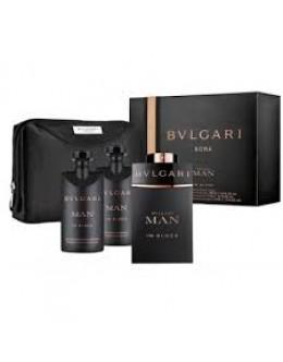 Bvlgari Man In Black EDP + 75ml ASHB + 75ml SG + Bag